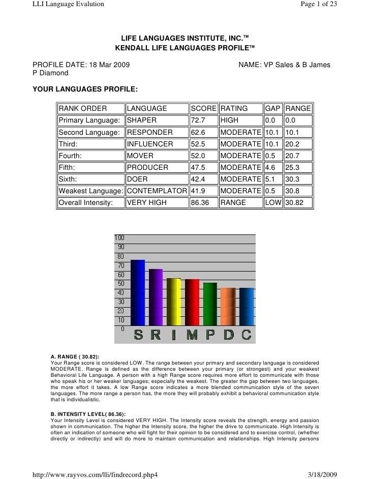 LLI Language Evalution                                                                                         Page 1 of 2...
