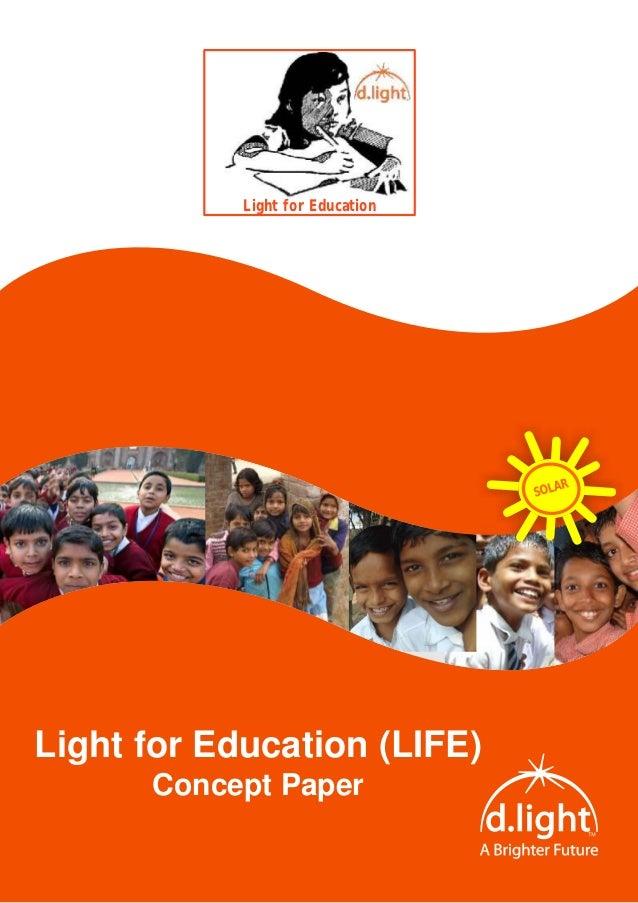 Light for Education                                      R                                  SOLALight for Education (LIFE)...