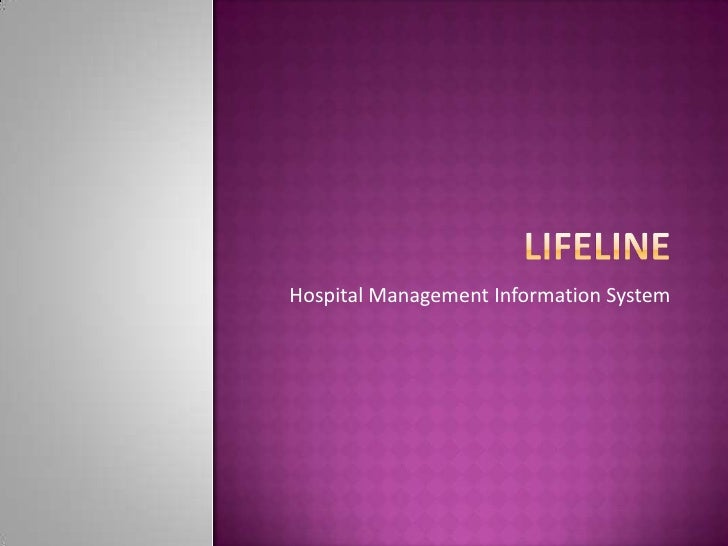 Hospital Management Information System