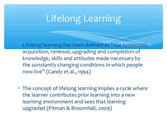 Essay on learning is a continuous process
