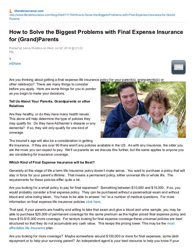 Lifenetinsurance.com how to-solve_the_biggest_problems_with_final_expense_insurance_for_grand_parents