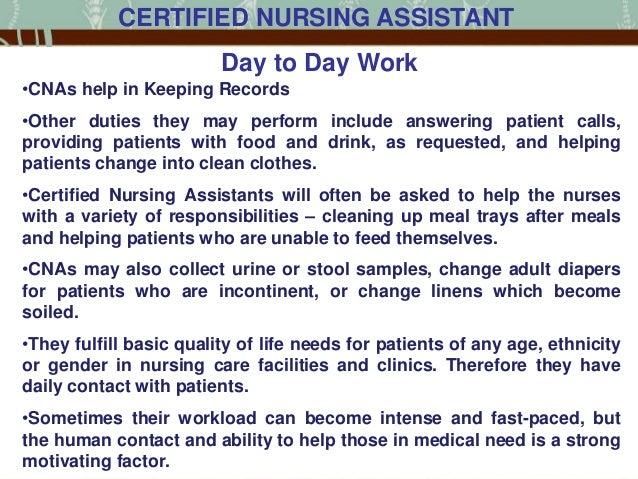 Cna Job Description Resume