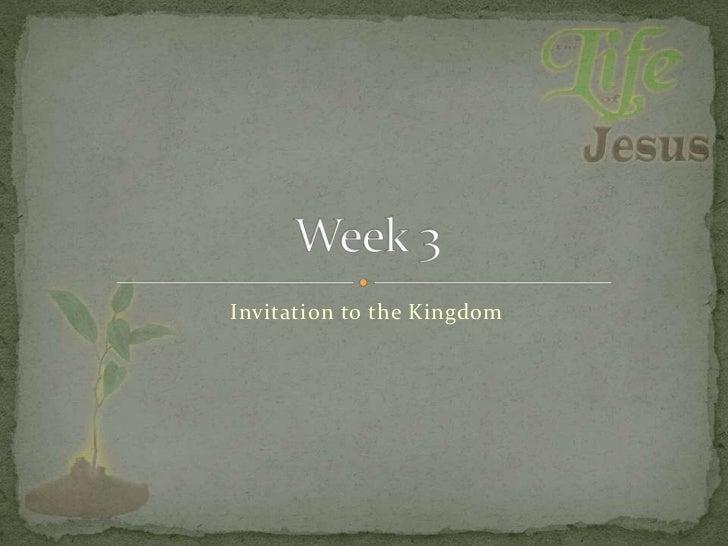 Invitation to the Kingdom