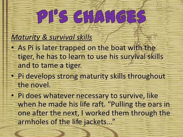 In Life of Pi, how does Pi's faith contribute to his survival?
