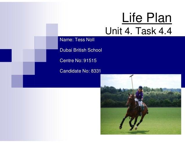 a2 pe coursework life plan