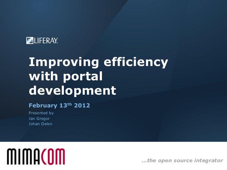 Improving efficiency with portal development