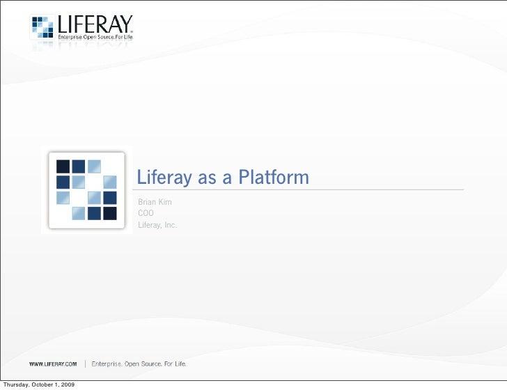 Liferay as a platform