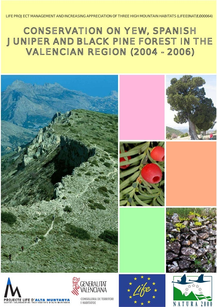 LIFE PROJECT MANAGEMENT AND INCREASING APPRECIATION OF THREE HIGH MOUNTAIN HABITATS (LIFE03NAT/E/000064)  CONSERVATION ON ...