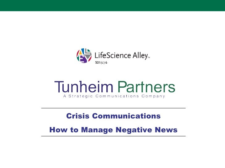 Crisis Communications How to Manage Negative News