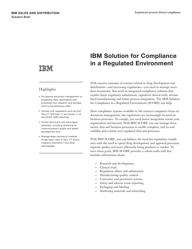 IBM SALES AND DISTRIBUTION                                                                      Implement process-driven c...