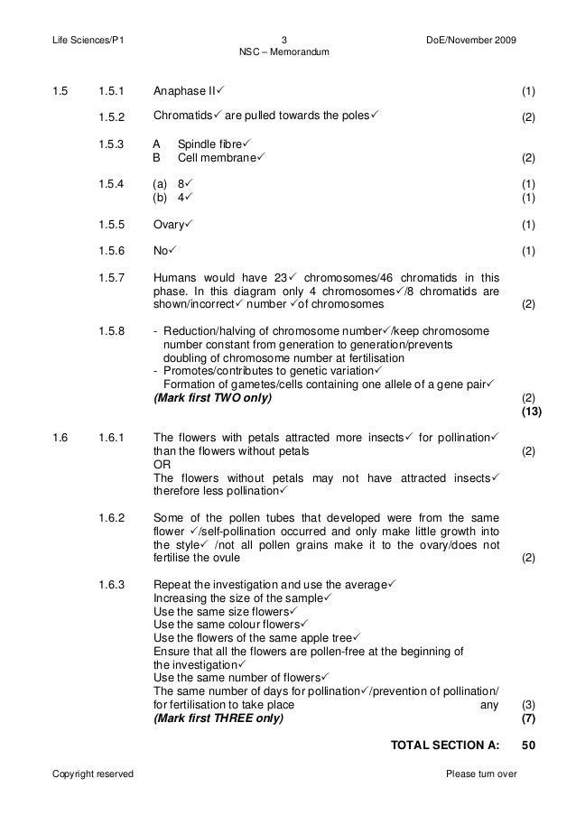 life science essay questions grade 12