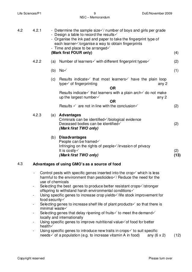 life science grade 11 november exam paper 1 2015