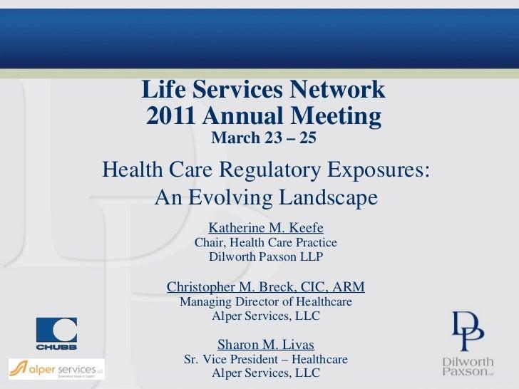 Life services network 2011 presentation