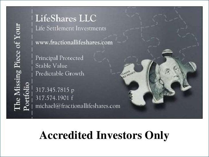 LifeShares LLC Slideshare Presentation