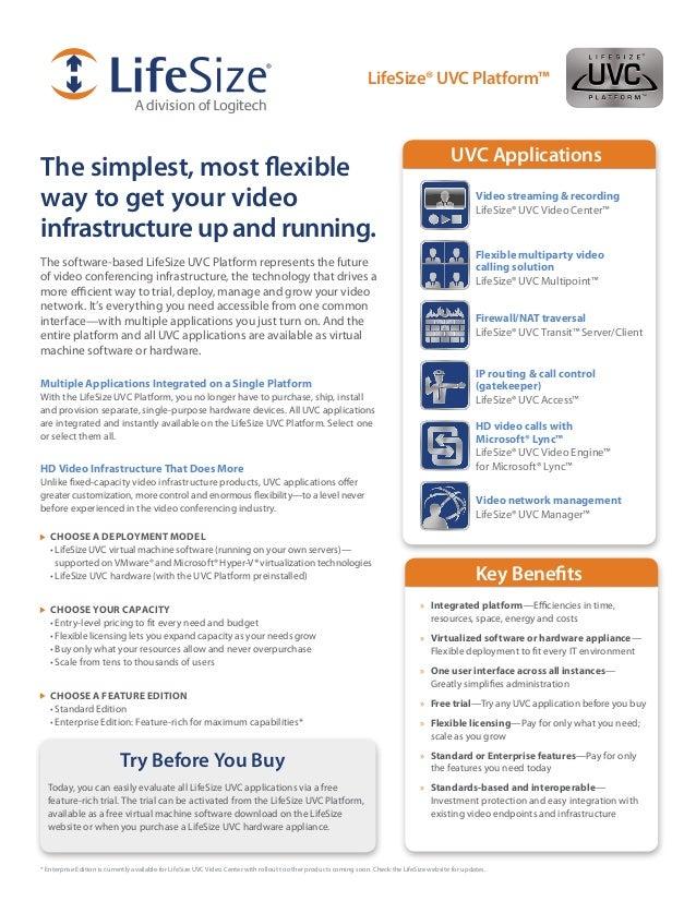 LifeSize UVC Platform Datasheet by Face To Face Live