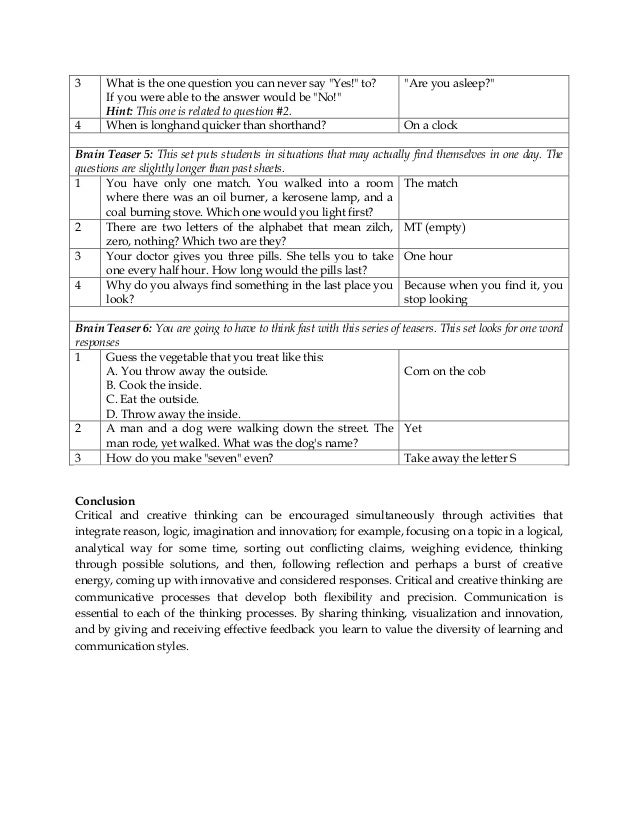 Math Critical Thinking Worksheets education world critical – Critical Thinking Worksheets