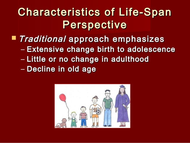 life span persective Life span perspective sarah a hays psy/375 january 28, 2013 lori ellingford life span perspective the development of human beings throughout life has been the focus of many psychologists.