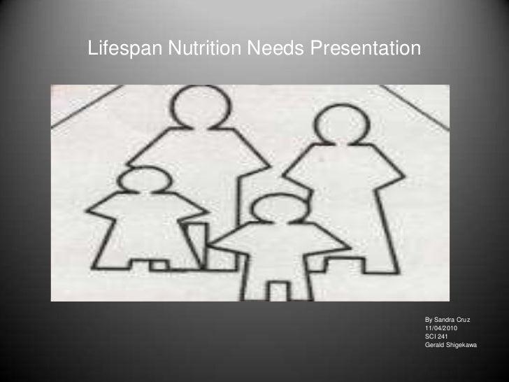 Lifespan nutrition needs presentation