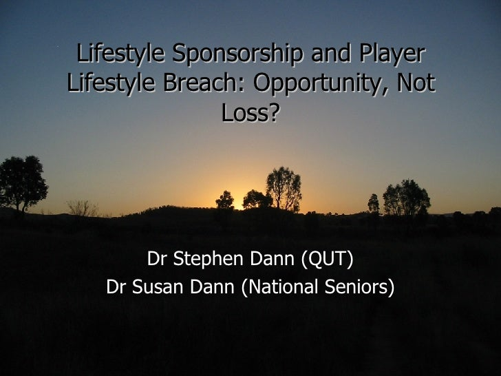 Lifestyle Sponsorship and Player Lifestyle Breach