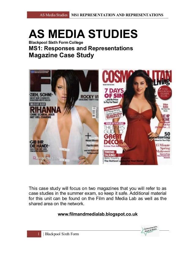 AS Media Studies MS1 REPRESENTATION AND REPRESENTATIONS 1   Blackpool Sixth Form AS MEDIA STUDIES Blackpool Sixth Form Col...