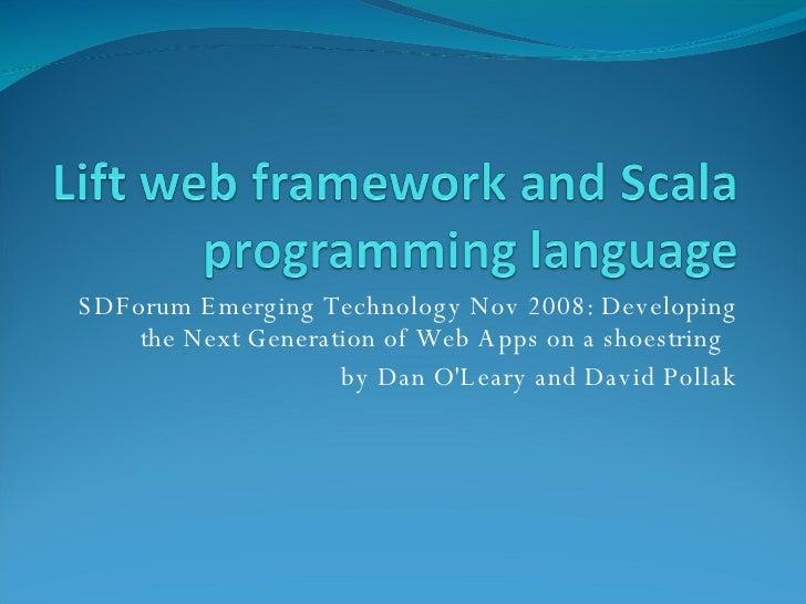 Lift web framework and Scala programming language talk