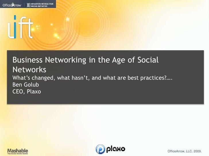 Ben Golub: Business Networking via Web 2.0
