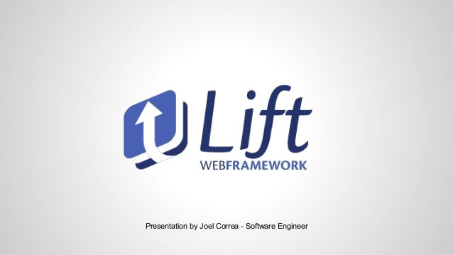 Presentation by Joel Correa - Software Engineer