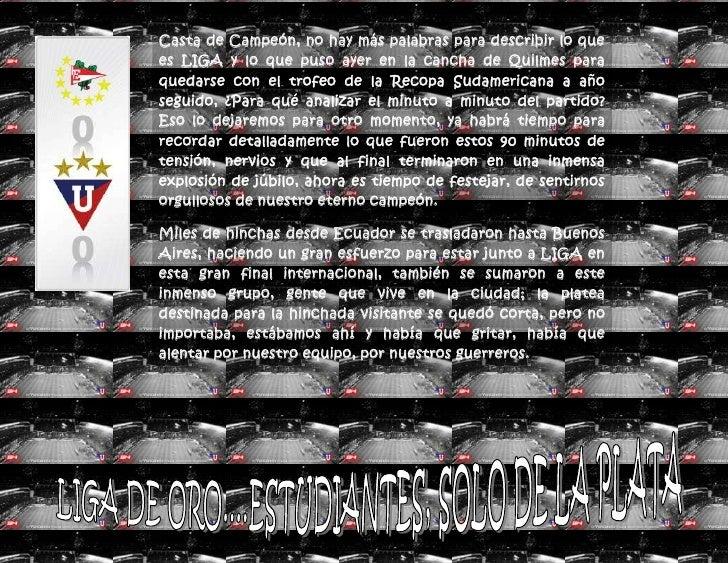 Casta de Campeón, no hay más palabras para describir lo que es LIGA y lo que puso ayer en la cancha de Quilmes para quedar...