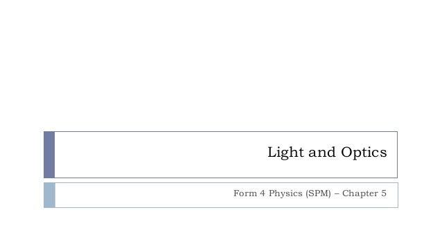 SPM Phyiscs - Light