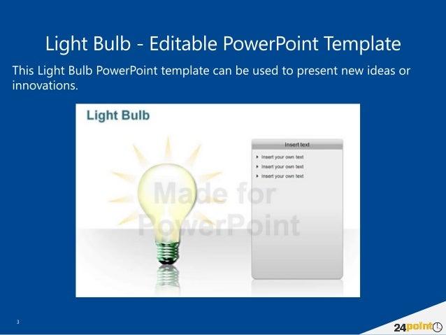 Light Bulb Powerpoint Template Mandegarfo