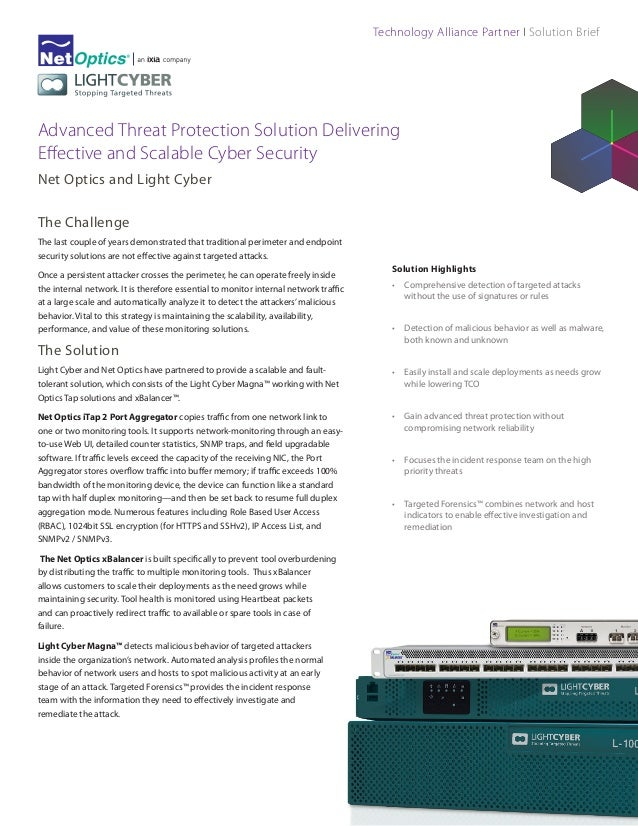 Technology Alliance Partner I Solution Brief  Advanced Threat Protection Solution Delivering Effective and Scalable Cyber ...