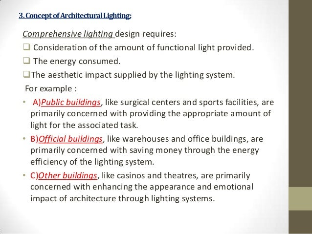 essay about light in architecture The new understanding of architecture and design the slender columns and lighter systems of thrust allowed for larger windows and more light essay by valerie.