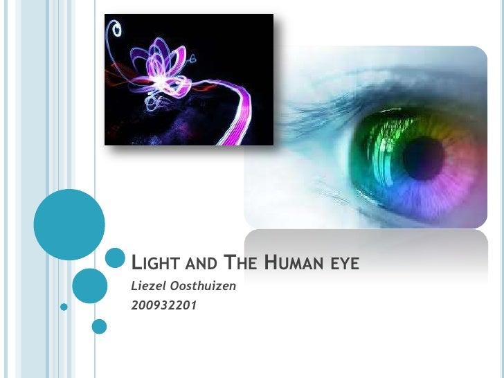 LIGHT AND THE HUMAN EYELiezel Oosthuizen200932201