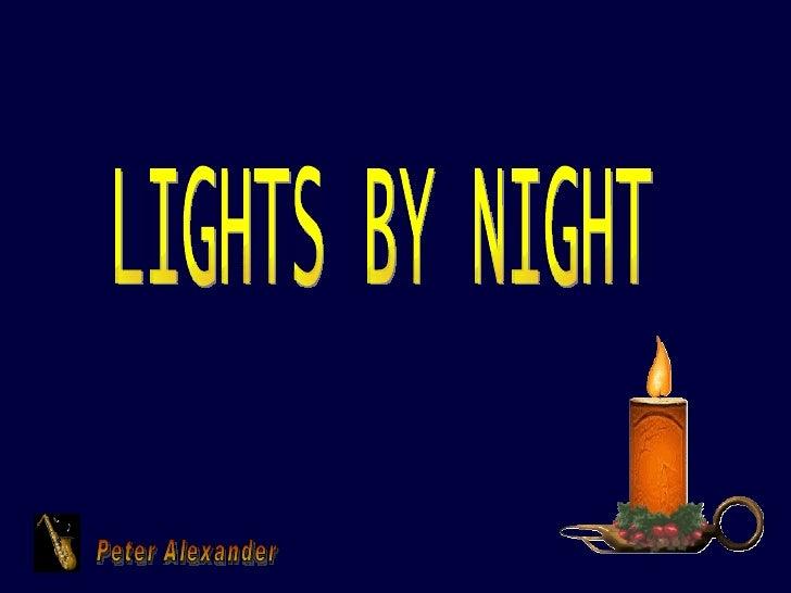Peter Alexander LIGHTS BY NIGHT