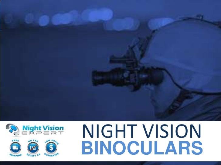 Lightest night vision binoculars