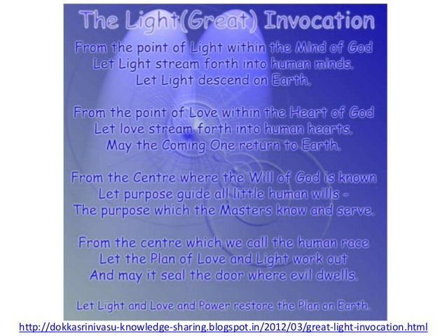 Light great invocation