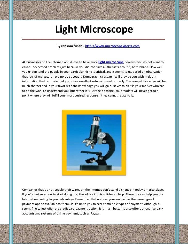 Light Microscope_____________________________________________________________________________________                     ...