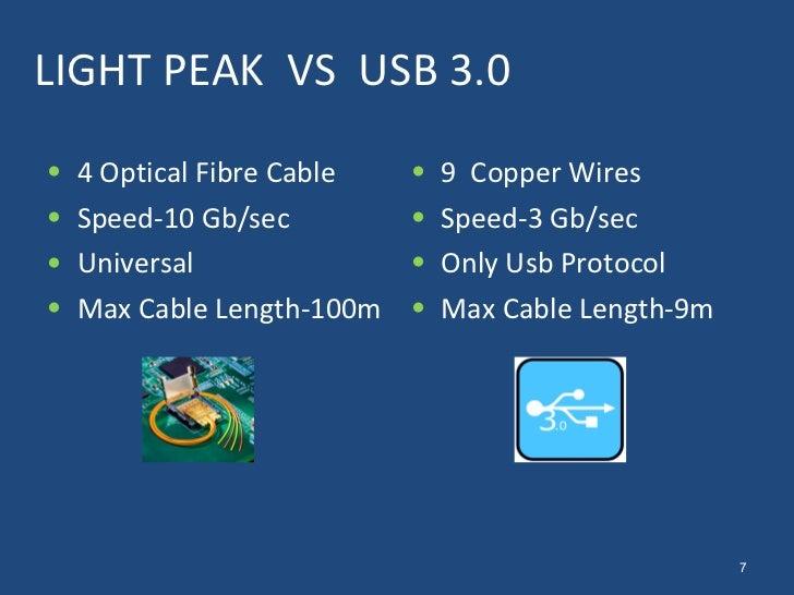 Light Peak Light Peak vs Usb 3.0