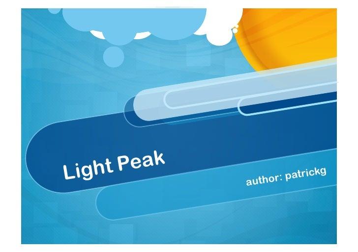 Light Peak Technology February 2011