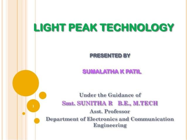 Light Peak Light Peak Technology