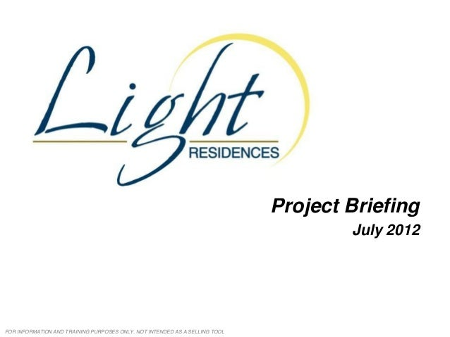 Light residences project brief 2012 07-06
