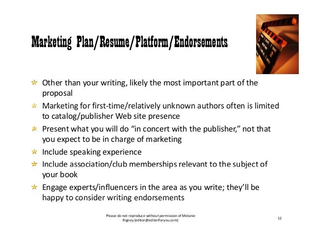 how to write a marketing proposal