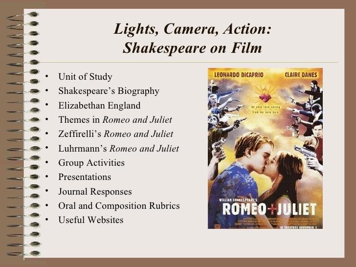 Lights, Camera, Action: Shakespeare on Film <ul><li>Unit of Study </li></ul><ul><li>Shakespeare's Biography </li></ul><ul>...