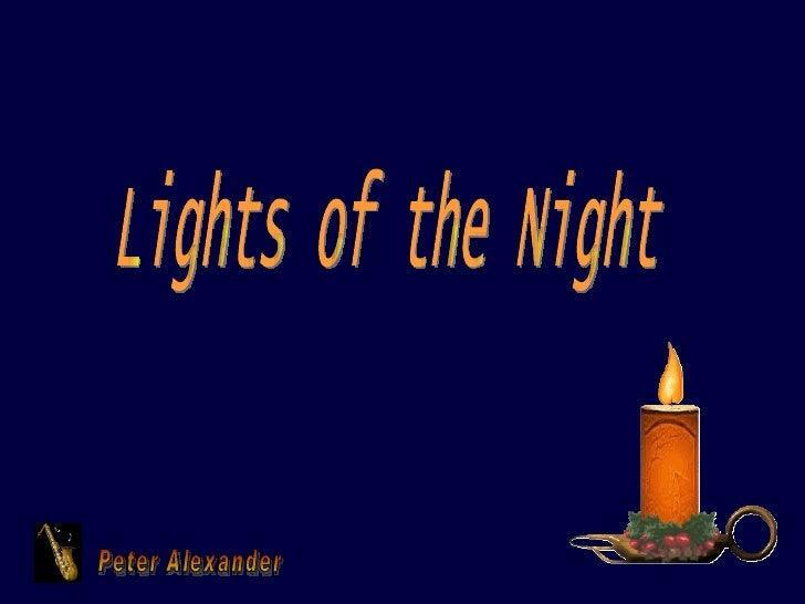 Peter Alexander Lights of the Night