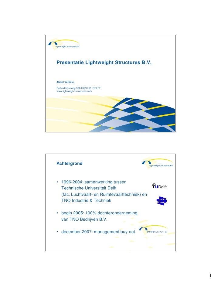Lightweight Structures Bedrijfsinformatie
