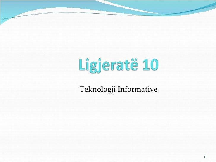 teknologjia informative / Ligjerata 10