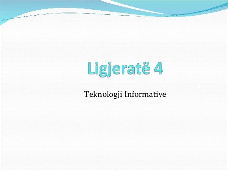 Ligjerata 4