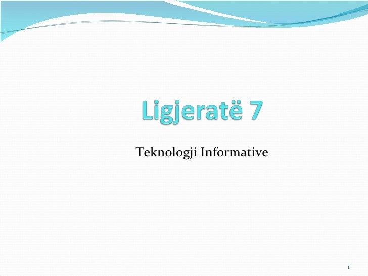 Ligjerata 7