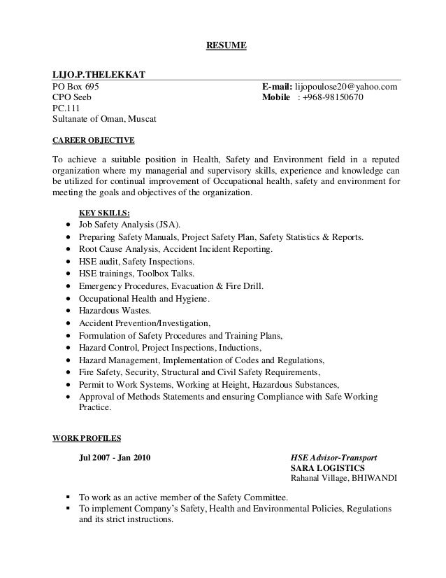 sample resume for general labour