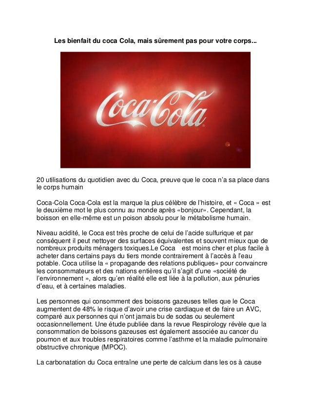 Les bienfait du coca Cola, mais sûrement pas pour votre corps...  20 utilisations du quotidien avec du Coca, preuve que le...